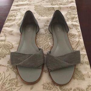 EUC Gray and Blue Flat Sandals